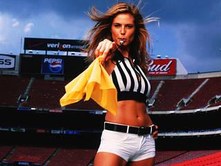 Sporty girl in uniform.