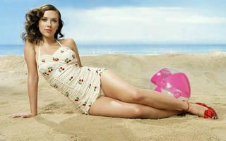 Muchacha erótica Scarlett Johansson.