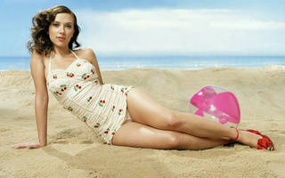 Ragazza erotica Scarlett Johansson.